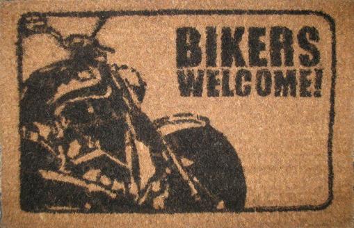 Obrázek z Rohožka BIKERS WELCOME dárek pro motorkáře