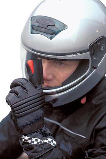 Obrázek z Prstový stěrač pro přilbu na motorku