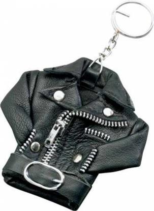 Obrázek Přívěšek na klíče kožená bunda křivák