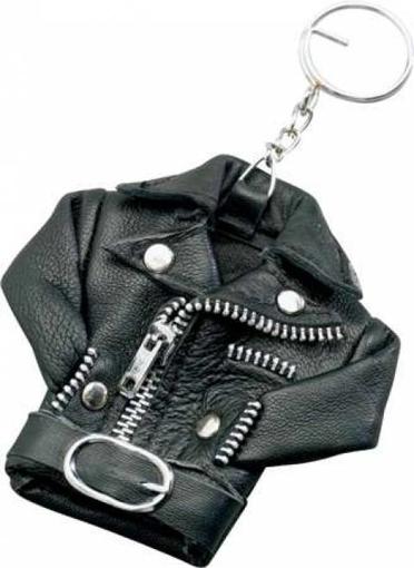 Obrázek z Přívěšek na klíče kožená bunda křivák