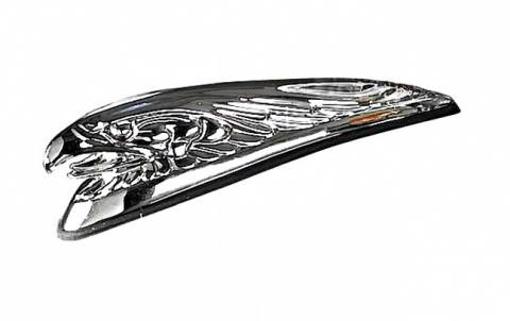 Obrázek z Orlice chromovaná ozdoba na motorku chopper na blatník