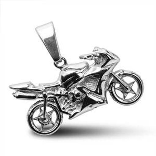 Obrázek z Ocelový přívěsek - silniční motorka