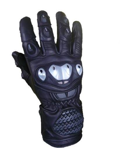 Obrázek z Diablo Moto kožené rukavice na motorku s chráničem kloubů