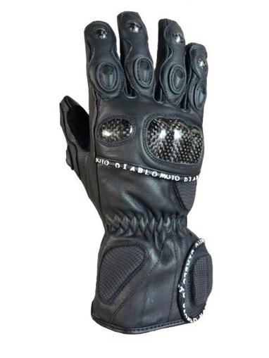 Obrázek z Diablo Moto kožené rukavice na motorku s karbonem