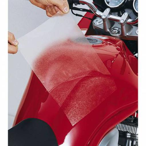 Obrázek z Lepící folie - čirá pod tankvak nebo boční brašny na motorku