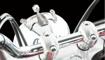 Obrázek z Chromovaná ozdoba na světlomet skelet pro chopper 180-200 mm