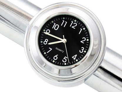Obrázek Analogové hodiny na řidítka 22-25mm - černé