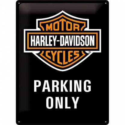 Obrázek Plechová cedule Harley-Davidson Parking Only
