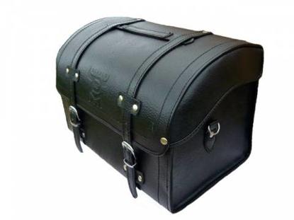 Obrázek DIABLO MOTO kožený kufr na nosič motocyklu chopper