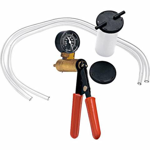 Obrázek z Ruční podtlakový odvzdušňovač brzd s tlakoměrem