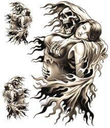 Obrázek Samolepka Reaper Girl na motorku
