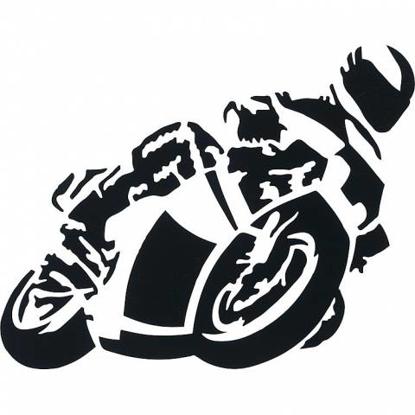 Obrázek Samolepka motorkář pro označení vozidla černá
