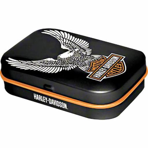 Obrázek z Bombony v krabičce s logem Harley Davidson