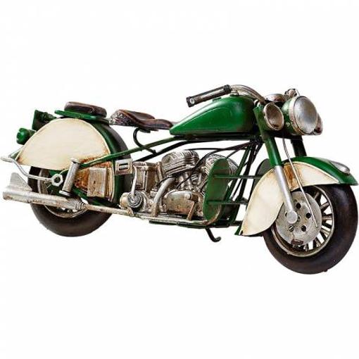 Obrázek z Model motocyklu Indian Retro Bike Racing Green