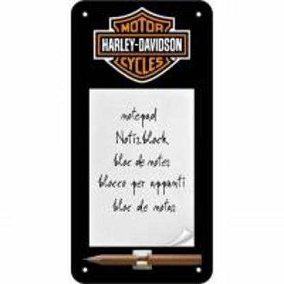 Obrázek Harley Davidson - cedule na poznámky - NOVINKA