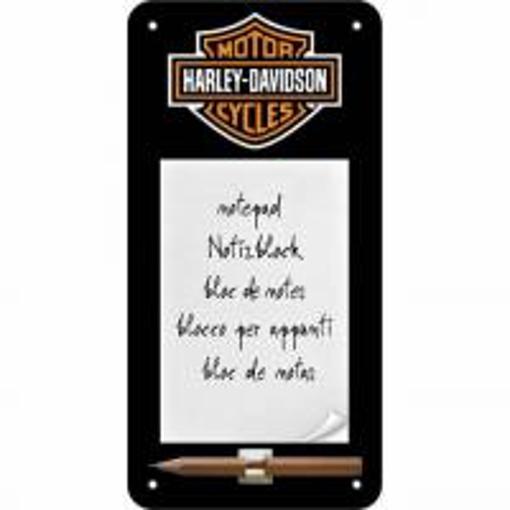 Obrázek z Harley Davidson - cedule na poznámky - NOVINKA