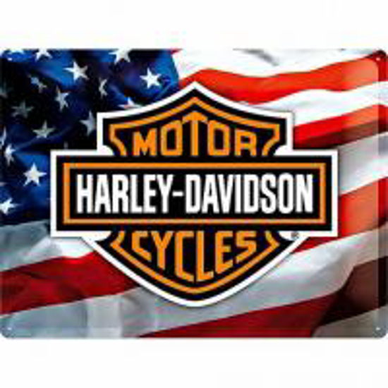 Obrázek z Plechová cedule USA logo Harley Davidson
