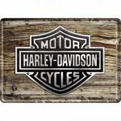Obrázek Plechová cedule HARLEY-DAVIDSON wood logo