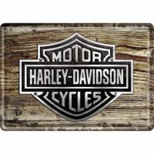 Obrázek z Plechová cedule HARLEY-DAVIDSON wood logo