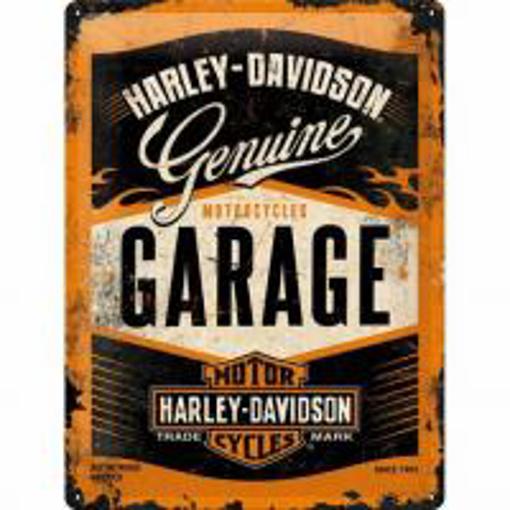 Obrázek z Plechová cedule Harley Davidson garage