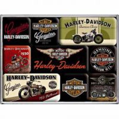 Obrázek Magnety - 9 ks - Harley Davidson - NOVINKA