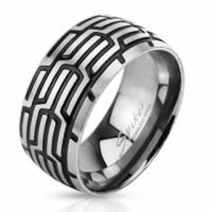 Obrázek Prsten z chirurgické oceli vzor pneumatika