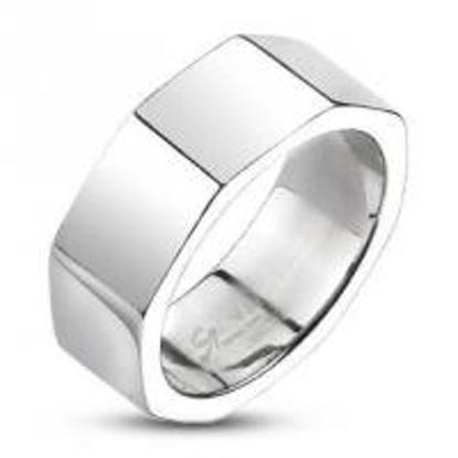 Obrázek Prsten z chirurgické oceli osmihran