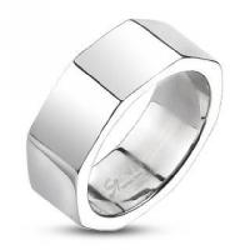 Obrázek z Prsten z chirurgické oceli osmihran