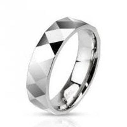 Obrázek Ocelový prsten šířka 6 mm