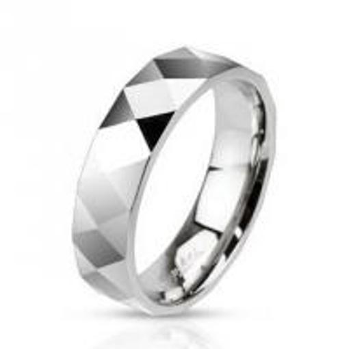 Obrázek z Ocelový prsten šířka 6 mm