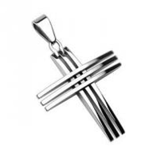 Obrázek z Přívěšek kříž chirurgická ocel