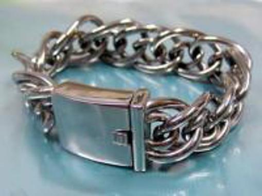 Obrázek z Masivní ocelový řetěz náramek pro motorkáře