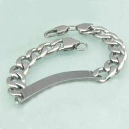 Obrázek z Ocelový náramek řetěz s destičkou pro motorkáře