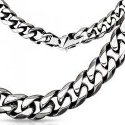 Obrázek Pánský masivní řetízek řetěz na krk z chirurgické oceli 9mm