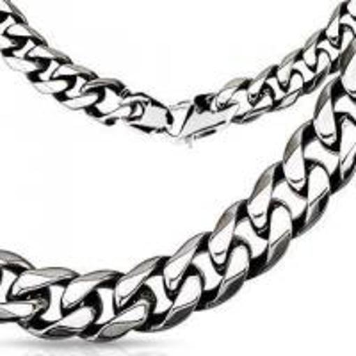 Obrázek z Pánský masivní řetízek řetěz na krk z chirurgické oceli 9mm