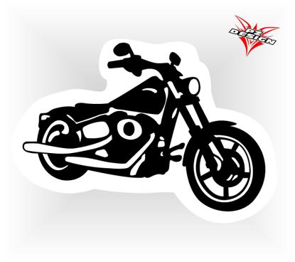 Obrázek Samolepka motorky Choper