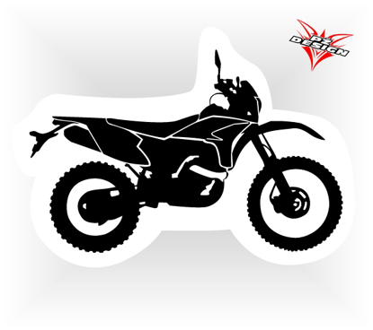 Obrázek Samolepka motorky Ostré enduro
