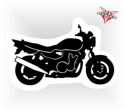 Obrázek Samolepka motorky Naháč