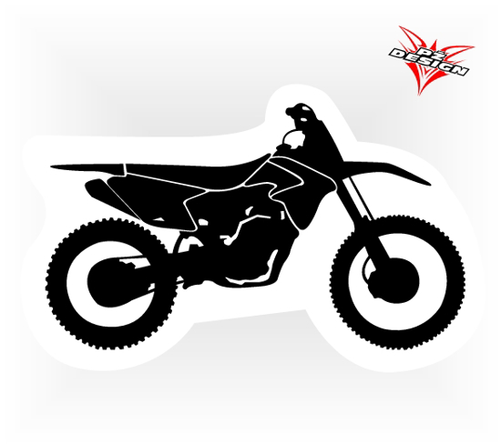 Obrázek z Samolepka motocross