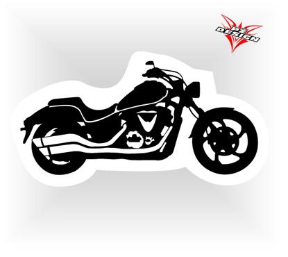 Obrázek Samolepka motorky Choper 2