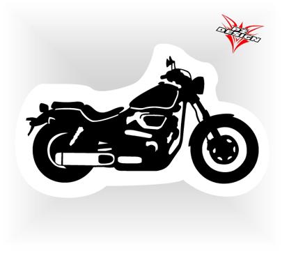 Obrázek Samolepka motorky Choper 3