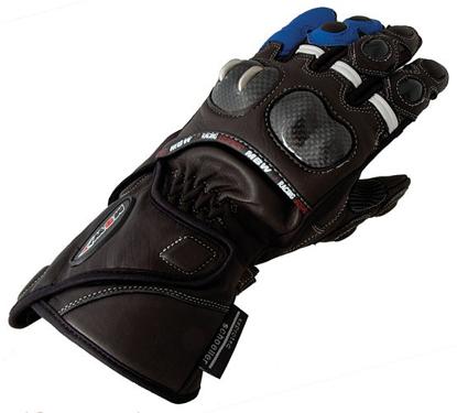 Obrázek HC BLUE- rukavice na motorku