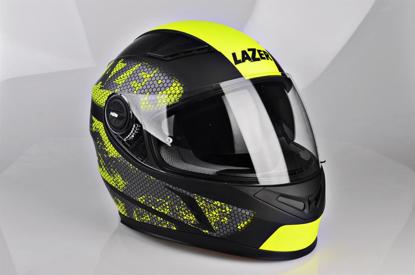 Obrázek LAZER  BAYAMO Nanotech helma na moto Barva: černo - žlutá - fluo - matná