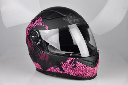 Obrázek LAZER  BAYAMO Pretty girl helma na moto Barva : Černo - Růžová - Matná