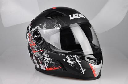 Obrázek LAZER  BAYAMO Pitbull 2 helma na moto Barva : Černo - Červeno - Bílá - Matná