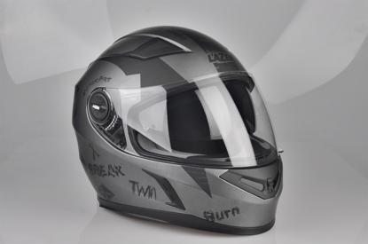 Obrázek LAZER  BAYAMO Bad Boy helma na moto Barva : Šedo - Černo - Matná