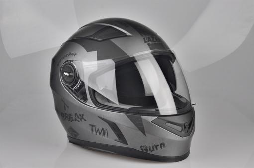 Obrázek z LAZER  BAYAMO Bad Boy helma na moto Barva : Šedo - Černo - Matná