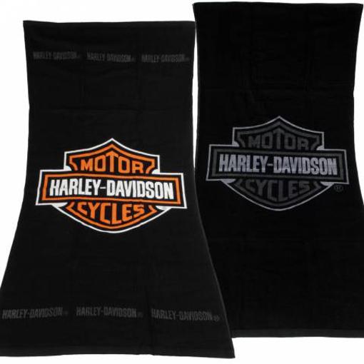 Obrázek z Osuška ručník Harley Davidson černo šedá