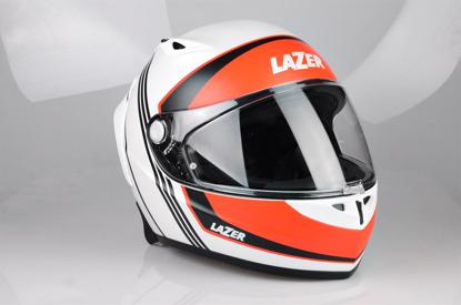Obrázek LAZER OSPREY LUMINO Raceline Glass Barva: bílá - červená - matná
