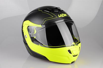 Obrázek LAZER  Monaco EVO Droid pravý Karbon Barva: černá - matná - karbon - žlutá fluo